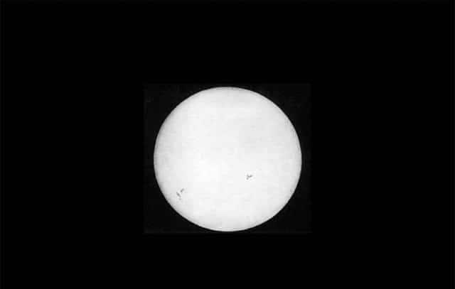 Pierwsza fotografia Słońca, 1840, Louis Fizeau, Leon Foucault